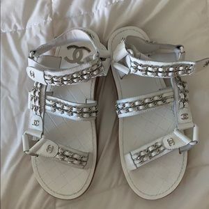 Barely worn Chanel sandals